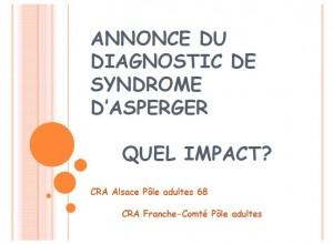 Annonce du diagnostic du syndrome d'Asperger, quel impact ? (format PDF)