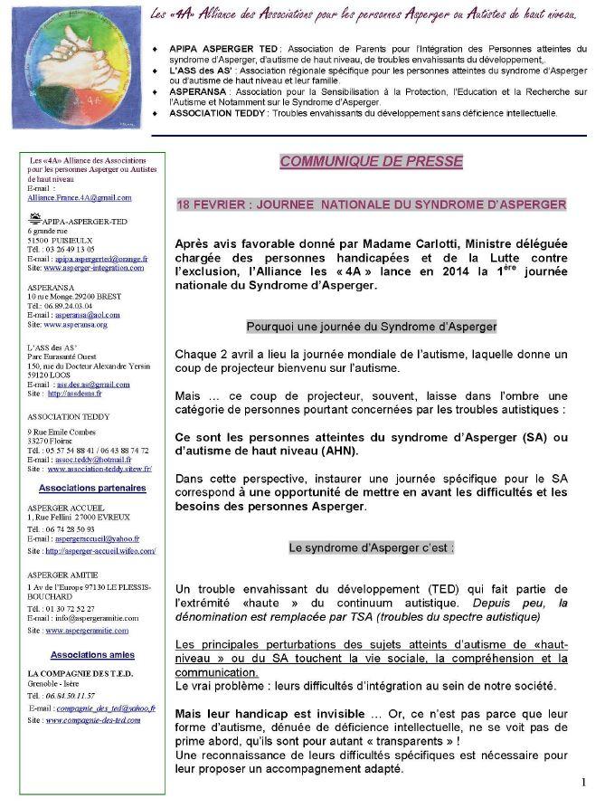 Communiqué de presse des 4A (format PDF)