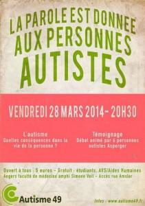 """[VIDÉO] Conférence """"La parole est donnée aux personnes autistes"""""""