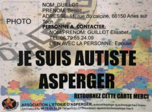 Une carte pour faciliter les relations entre autistes et policiers à Perpignan (France bleu, février 2015)