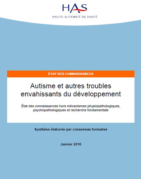 Recommandations de la HAS en matière d'autisme (cliquez pour ouvrir au format PDF)